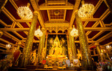Thai Golden Buddha statue in the public church