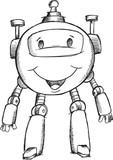 Doodle Robot Illustration Vector Art
