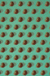 Pattern of kiwi. Top view of the sliced kiwi on blue background. Minimal flat lay concept. - 153904383
