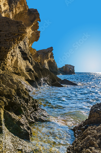 Insel Ibiza Spanien Klippe