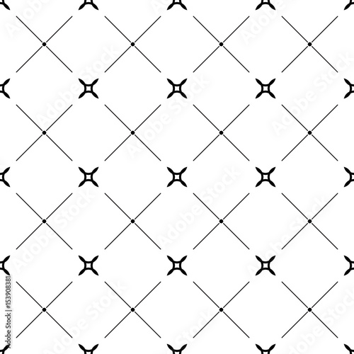 Geometric monochrome background. Black and white seamless pattern - 153908381