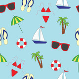 Seamless pattern. Summer and sea.