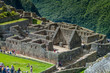 MACHU PICCHU, PERU - MAY 18, 2015: Crowds of visitors at Machu Picchu ruins, Peru.