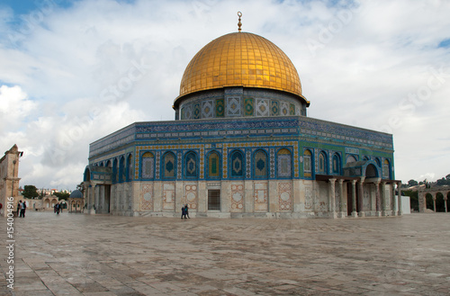 Felsendom auf dem Tempelberg in Jerusalem, Gesamtansicht плакат