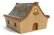 3d illustration of a cartoon house - 154045702