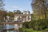 Palace on Water in Lazienki Park in Warsaw - 154049944