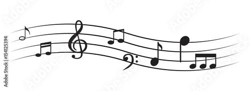Fotobehang Muziek Music note
