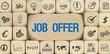 Job Offer / Würfel mit Symbole
