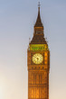 Closeup of Big Ben Tower clock in London