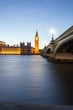Houses of Parliament and Big Ben in London at sunset