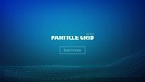 particle grid abstract background. Technology minimal backdrop for presentation. Cyber wave - 154164754