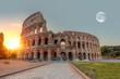 Sunrise at Rome Colosseum (Roma Coliseum), Rome, Italy