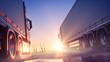 Leinwanddruck Bild - Truck Delivery Express
