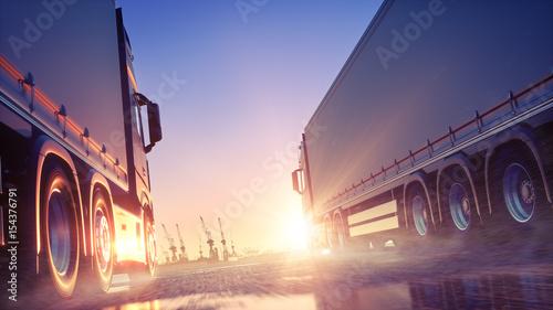 Leinwanddruck Bild Truck Delivery Express