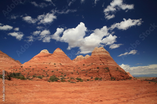 Poster Rock formations in the North Coyote Buttes, part of the Vermilion Cliffs National Monument. This area is also known as The Wave