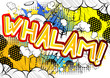 Whalam! - Vector illustrated comic book style expression. - 154469171