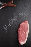 Steak of marbled beef