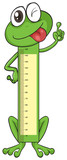 Board measuring height shape of frog