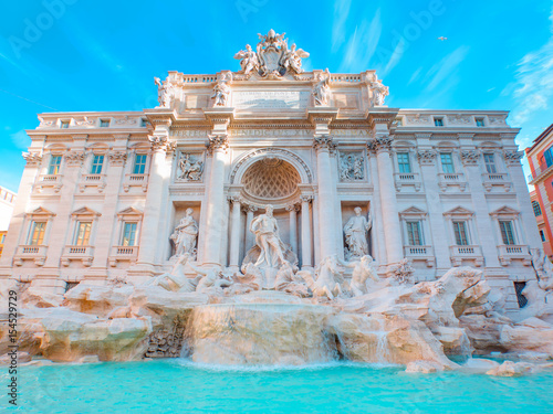 Trevi Fountain (Fontana di Trevi) in Rome, Italy. Poster