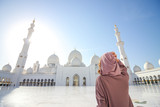 Woman at Sheikh Zayed Mosque 5