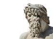Quadro River Ganges marble statue as Greek or Roman God (isolated on white background)