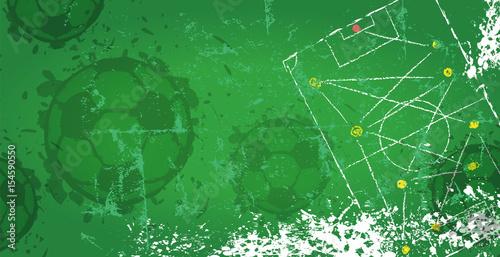 Fototapeta Soccer / Football design template,free copy space, vector