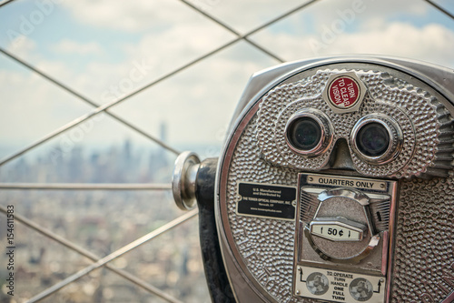 Binoculars in New York from Empire State Building Poster