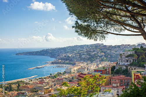 view of the coast of Naples, Italy
