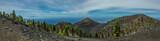 La Palma volcanos landscape panoramic