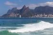 Quadro Waves at Arpoador beach, Rio de Janeiro, Brazil