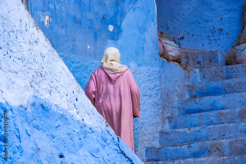 Spoed canvasdoek 2cm dik Marokko Marokko - die blaue Stadt Chefchaouen
