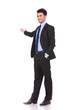 full body picture of a businessman presenting