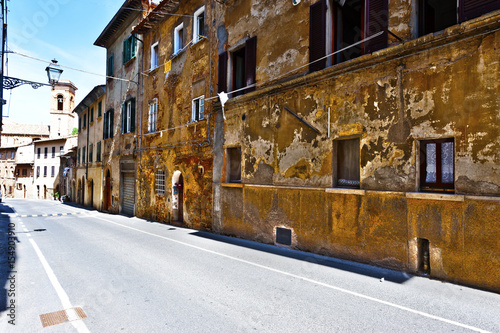 Street in a old city without people