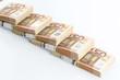 many euro banknotes - 154909521