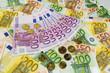 many different euro bills - 154909756