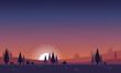 At sunset landscape for game background - 154914142