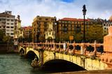 Day view of Sant Sebastian. Maria Cristina bridge