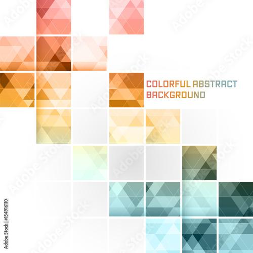 Kolorowe abstrakcyjne tło wektor. Kwadratowy wzór mozaiki.