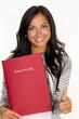 woman with application portfolio - 154916938