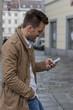 man writing sms - 154917584