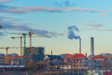 A glimpse of Berlin with trams and pollutants