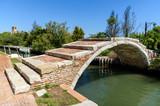 devil's bridge in Torcello island, venetian lagoon, italy