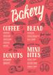 Bakery menu restaurant, food template. - 154964961