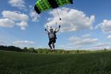 Skydiving high speed swoop landing