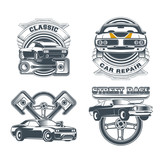 Classic muscle car vintage vector