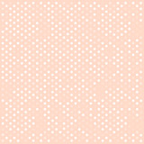 Seamless white polka dots pattern over pink