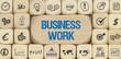 Business Work / Würfel mit Symbole