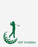 Golf invitation flyer template graphic design