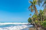 Playa Negra - black beach at Cahuita, Limon - Costa Rica - tropical and paradise beaches at caribbean coast