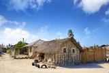 Typical street in african village in Zanzibar
